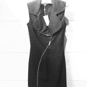 Erin Fetherston Black Eyelet Linen Dress